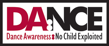 DA:NCE Dance Awareness No Child Exploited Logo